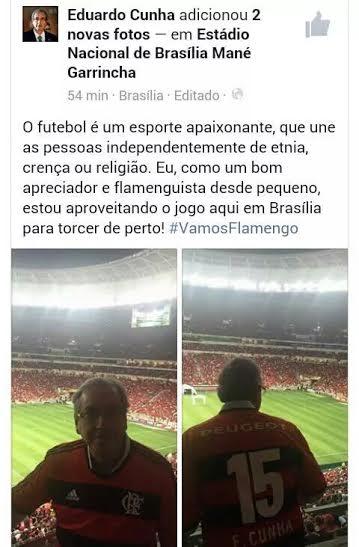 Torcida do Mengão pede a volta de Bruno e Adriano; deviam pedir também Eduardo Cunha para presidente