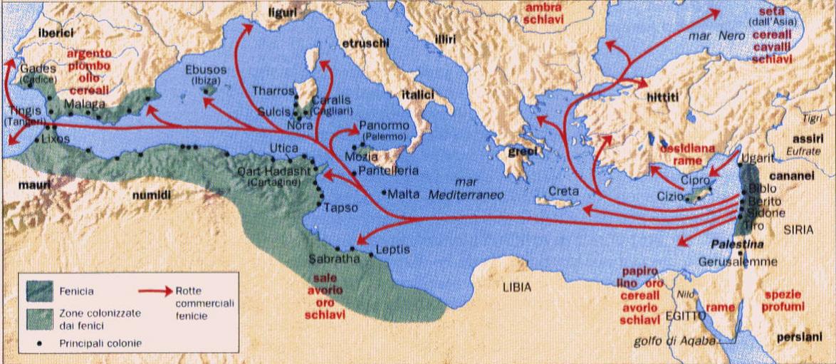 Cartina Geografica Dei Fenici.Il Popolo Della Porpora I Fenici Lessons Blendspace