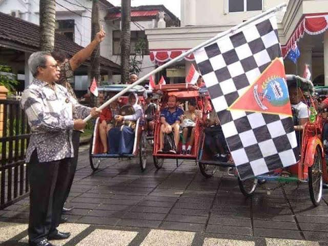 Pemkot Ambon Gelar Parade Becak Wisata Spice Island Darwin-Ambon Yacht Race (SIDAYR) 2018