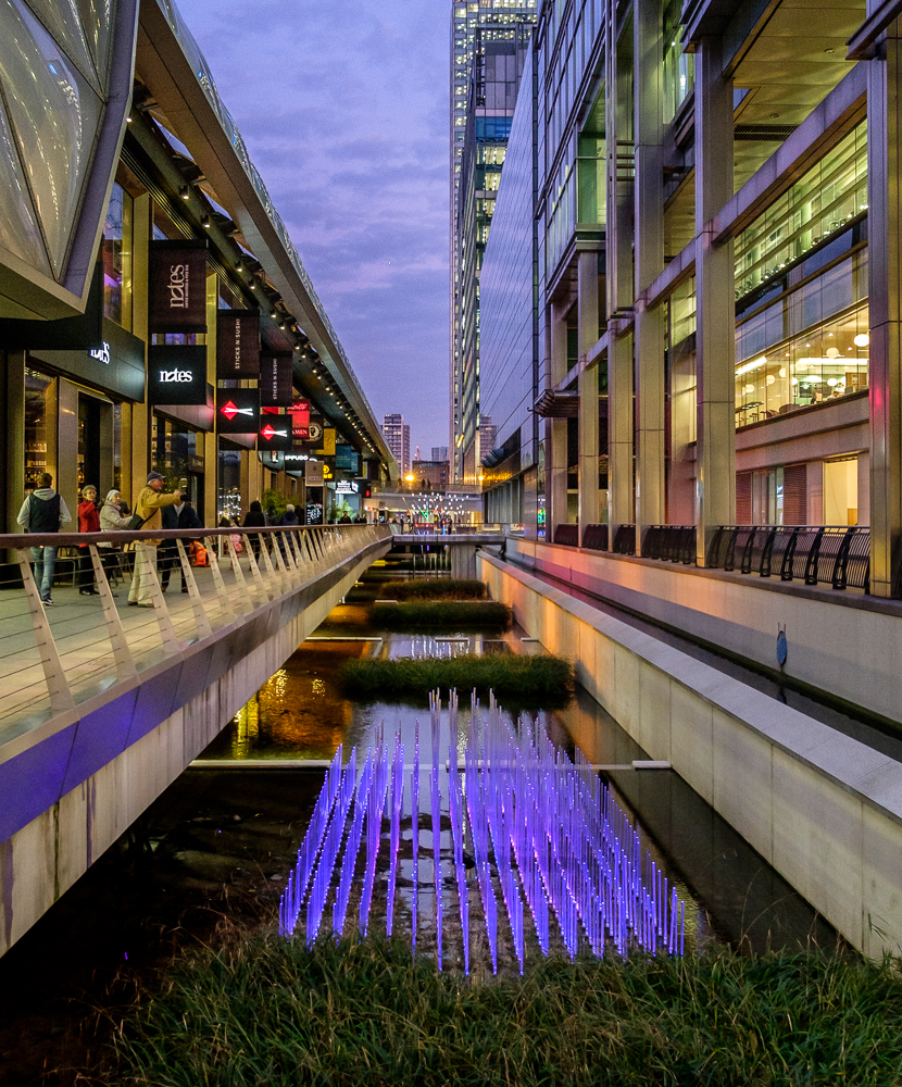 ann miles photography winter lights at canary wharf