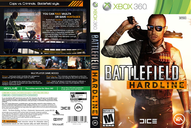 Capa xBox360 BATTLEFIELD HARDLINE