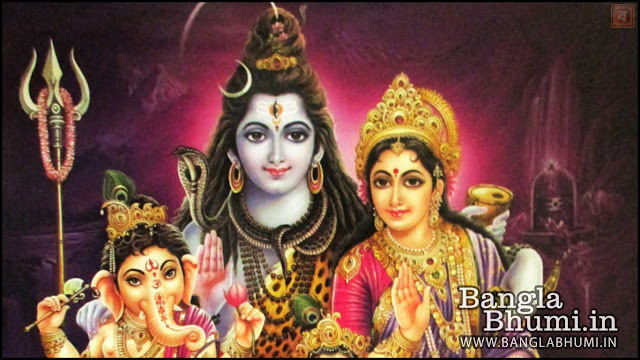 Lord Shiva, Maa Parvati & Shri Ganesha Indian God 1366x768 Wide Wallpaper