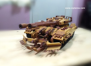 Wooden Miniature Military Tank EFGF M61A5