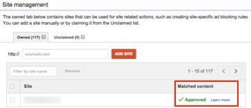 Google Adsense Matched Content
