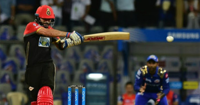 Virat Kohli who went down fighting with an unbeaten fifty in Mumbai's much-needed win versus Bangalore at Wankhede.