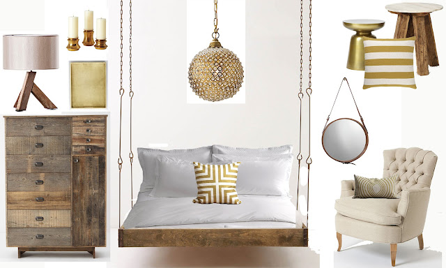 The Ra Ra Home Distressed Wood Gold