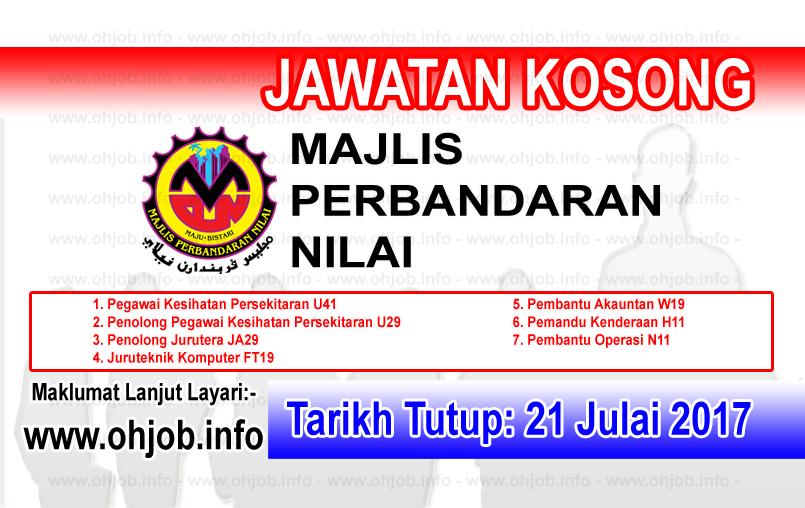 Jawatan Kerja Kosong Majlis Perbandaran Nilai - MPN logo www.ohjob.info julai 2017