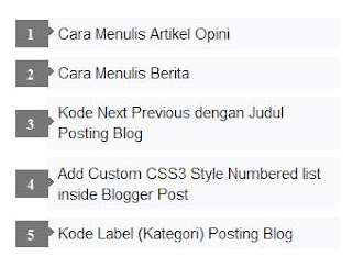 Modifikasi Tampilan Widget Popular Post di Sidebar Blog