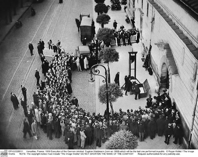 Exécution E. Weidmann guillotine Versailles