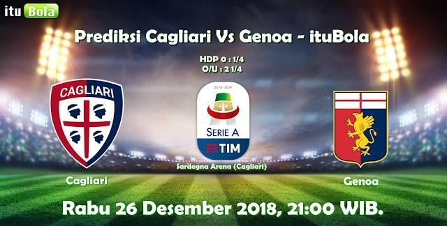 Prediksi Cagliari Vs Genoa - ituBola