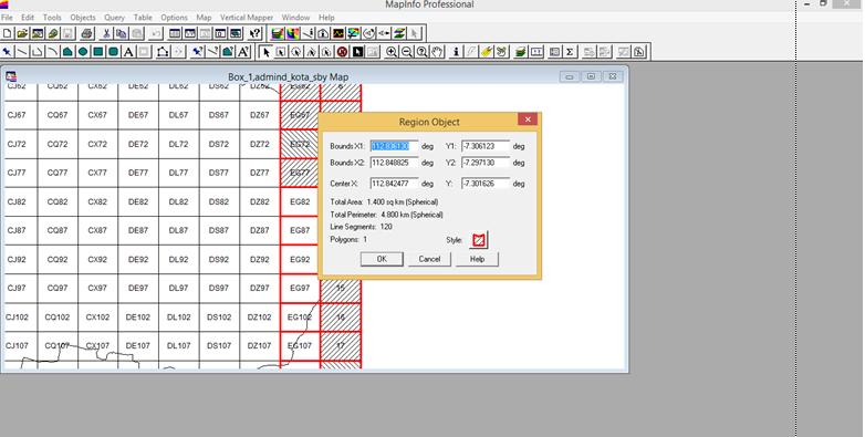 Tampilan Informasi Koordinat pada MapInfo | Cropping Citra dengan Global Mapper 11