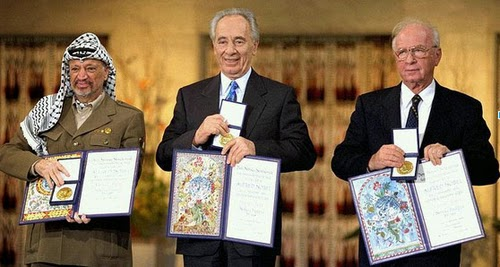 Arafat, Peres and Rabin