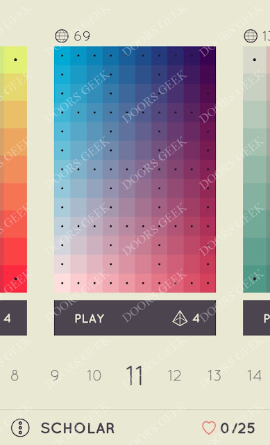 I Love Hue Scholar Level 11 Solution, Cheats, Walkthrough