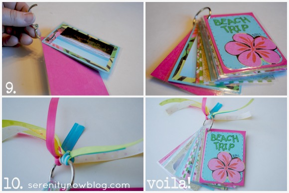 How to Make a Mini Photo Album, from Serenity Now blog