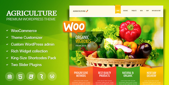 Free Download Agriculture All in One WooCommerce WordPress Theme
