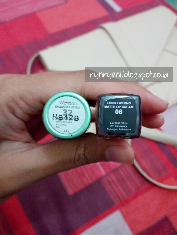Review Wardah Exclusive Lipstick Vs Long Lasting Matte Lip Cream Lt Setelah Diaplikasikan 1 Lebih Oily Warna Soft Tidak Pekat Pro 2