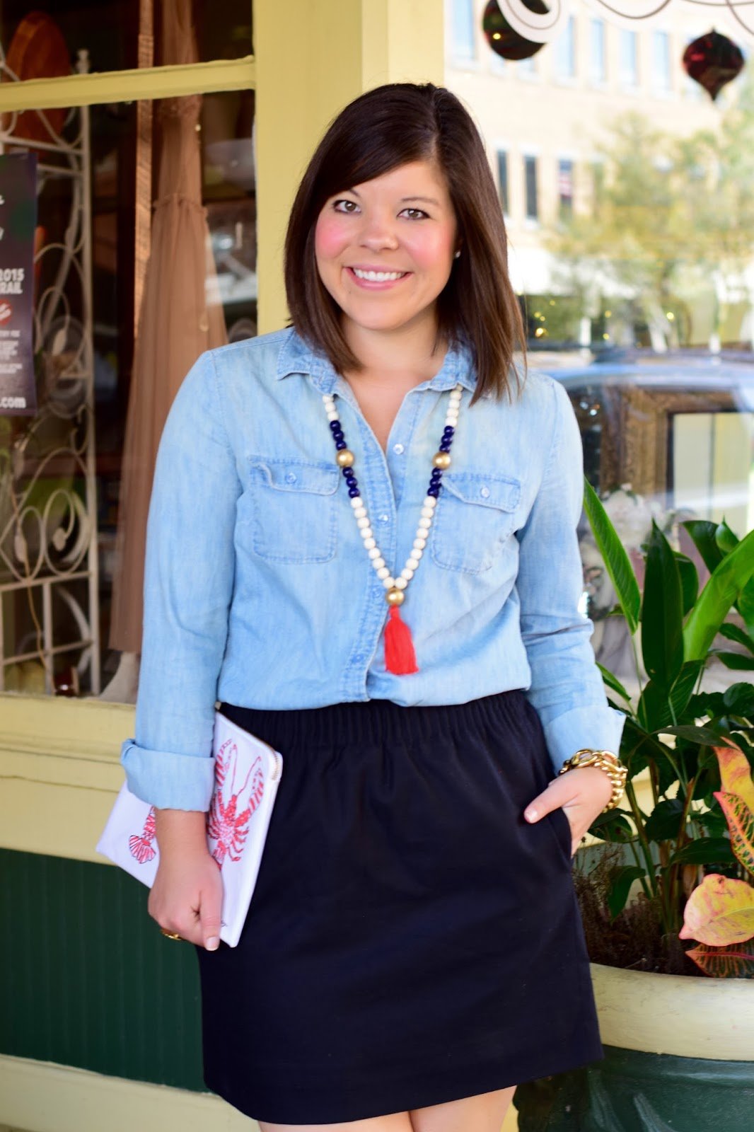 Tassels and Chambray