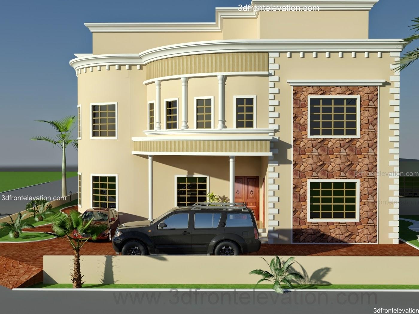Dubai arabian house 3d front elevation design