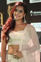 Prajna Actress in backless Cream Choli and transparent saree at IIFA Utsavam Awards 2017 0045.JPG