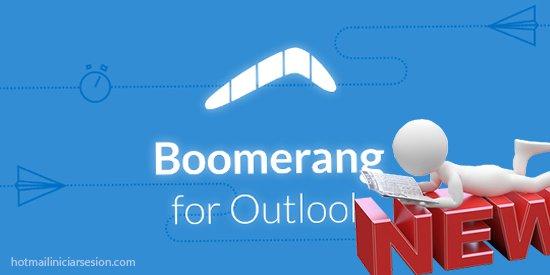 llegó Boomerang a Outlook.com - iniciar sesion