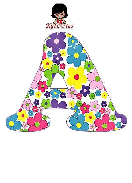 Divertido Alfabeto con Flores de Colores.