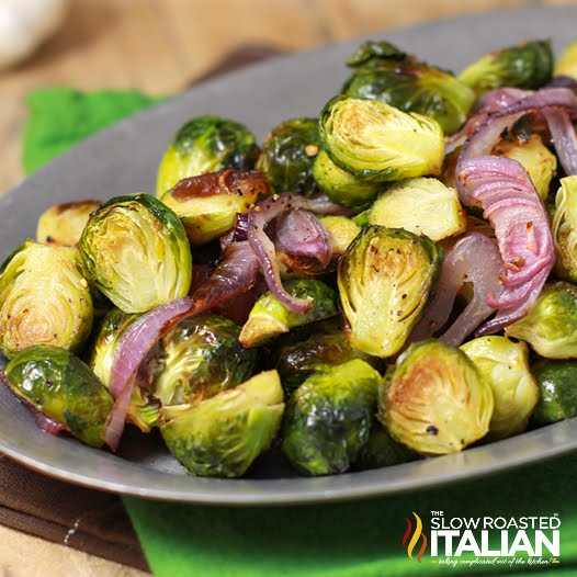 crispy brussel sprouts cooked and served