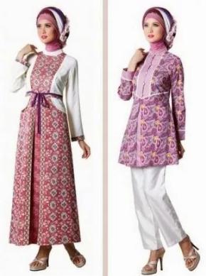 Trend 40 Kreasi Model Busana Gamis Batik Terbaru 2017 Lebih Elegan