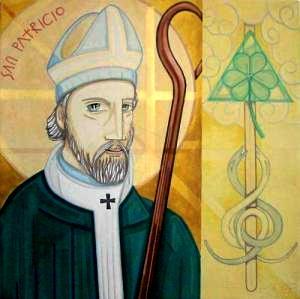 Dibujo de San Patricio a colores