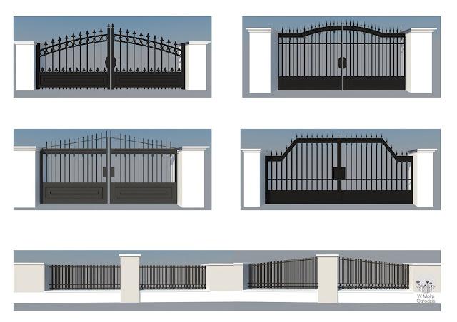 projektowanie bram ogrodzeń