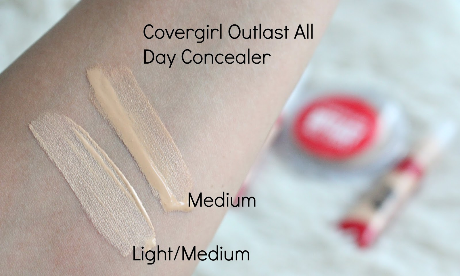 covergirl outlast concealer swatches