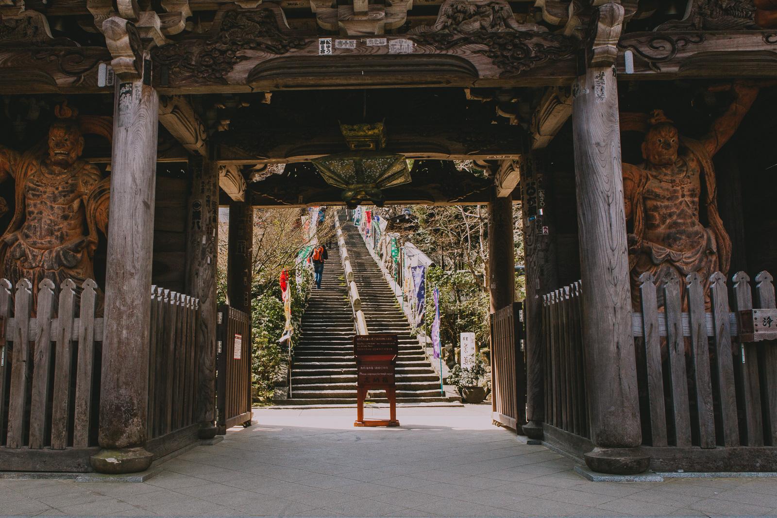 Buddhas in Miyajima Temple: Visiting the Amazing Itsukushima Island, Japan.