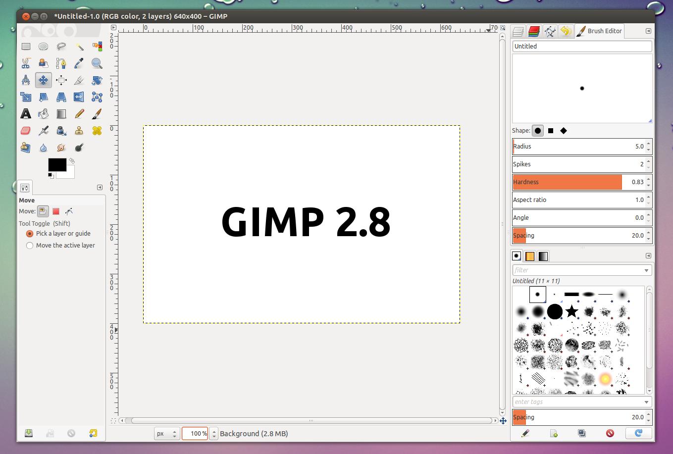 gimp 2 8 stable finally available for download web upd8 ubuntu linux blog. Black Bedroom Furniture Sets. Home Design Ideas