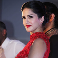 Actress beautiful Sunny Leone in Spicy Red gown dress