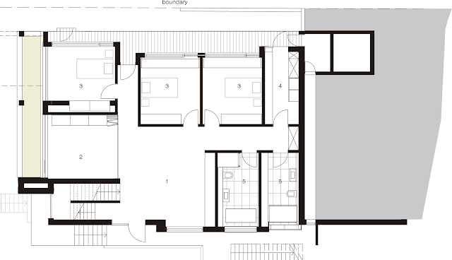 Floor plan of the Australian modern house