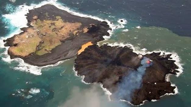 NUEVA ISLA VOLCANICA DE JAPON CRECE 30 VECES SU TAMAÑO EN 3 MESES, 24 de Enero 2013
