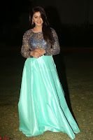Nikki Galrani in Green Skirt  Top at Marakathamani music launch ~  Exclusive (150).JPG