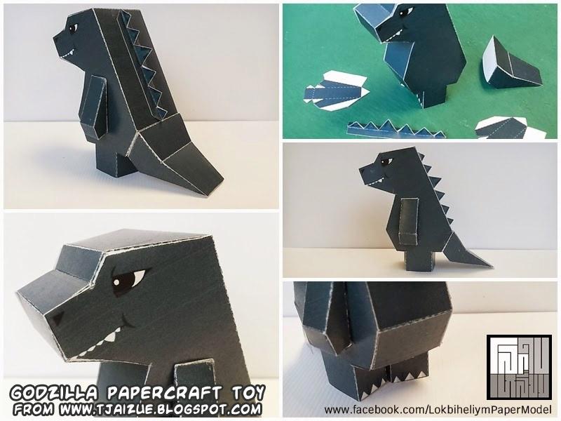 Godzilla Monster Paper Craft