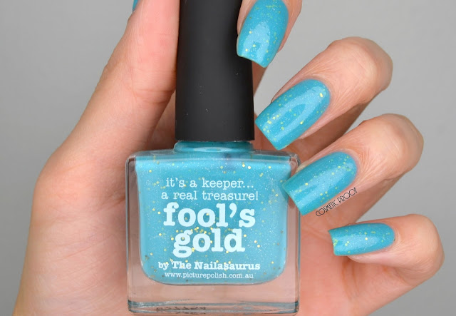 NAILS | Picture Polish Fool's Gold Swatch #ManiMonday