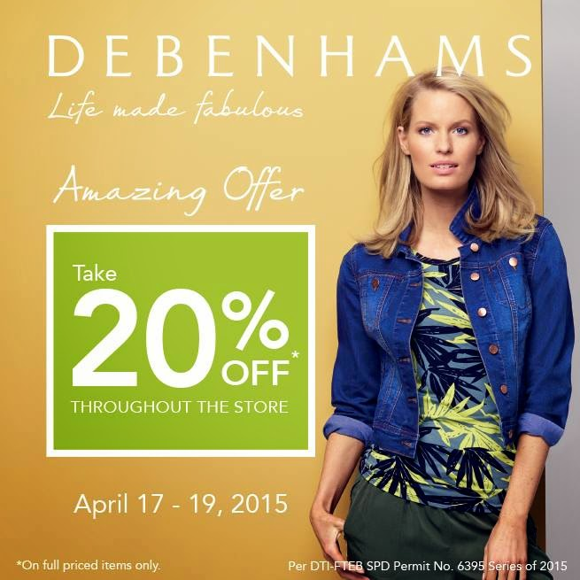 d7b105bcd7 Debenhams Amazing Offer  April 17-19 2015