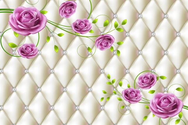Tranh hoa hồng 3d