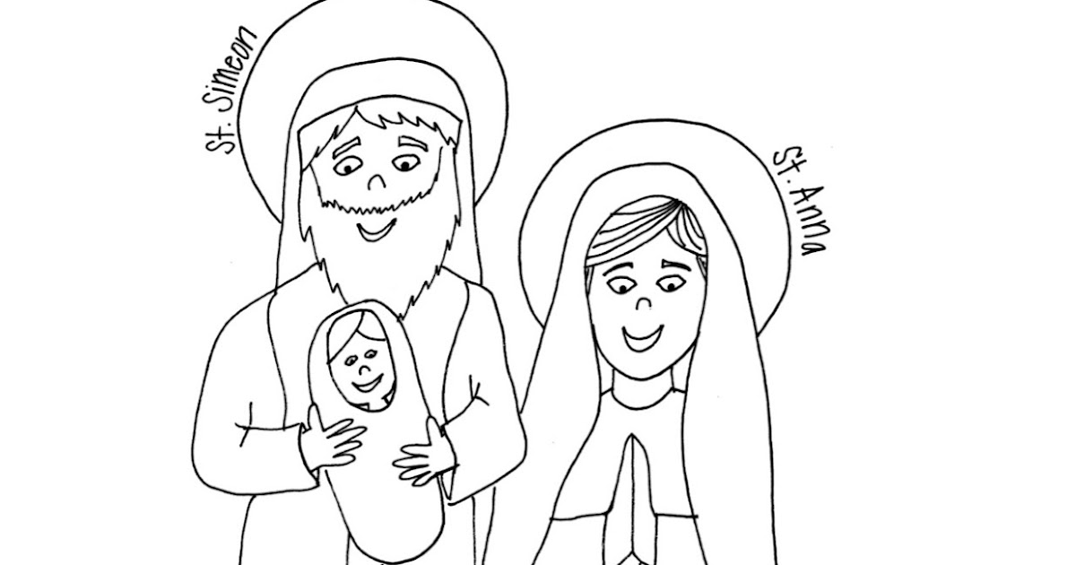 A new coat for anna coloring pages ~ Look to Him and be Radiant: Sts. Simeon & Anna Coloring Page