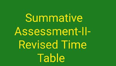 SCERT, AP School Education Department Summative  Assessment-II-Revised Time Table