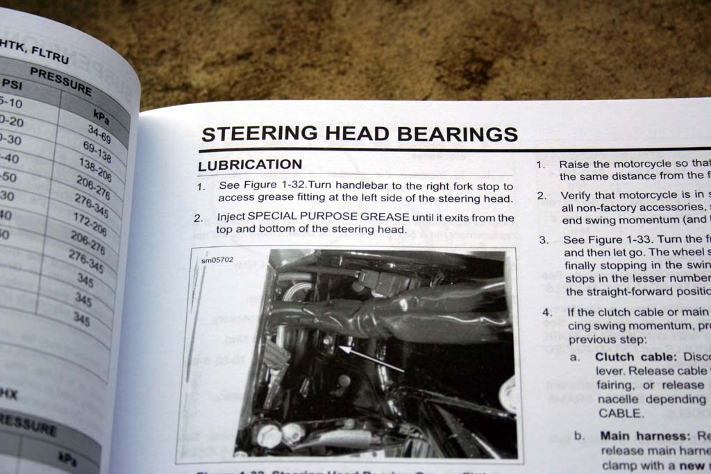 Steering Head Bearing Lubrication - Ride it Wrench It