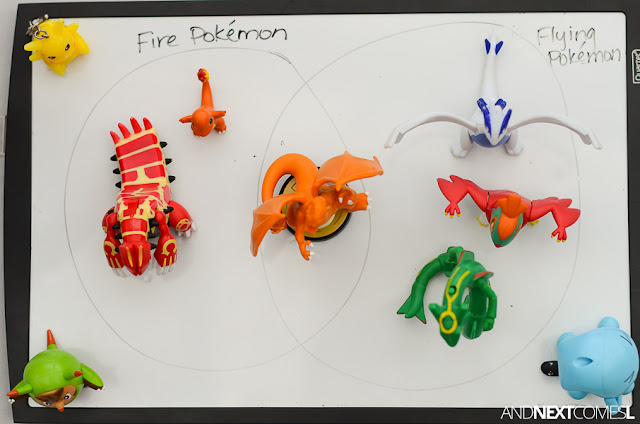 Sorting with Venn diagrams Pokemon activity for kids from And Next Comes L
