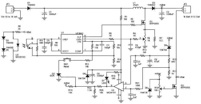 rangkaian power supply baterai diagram