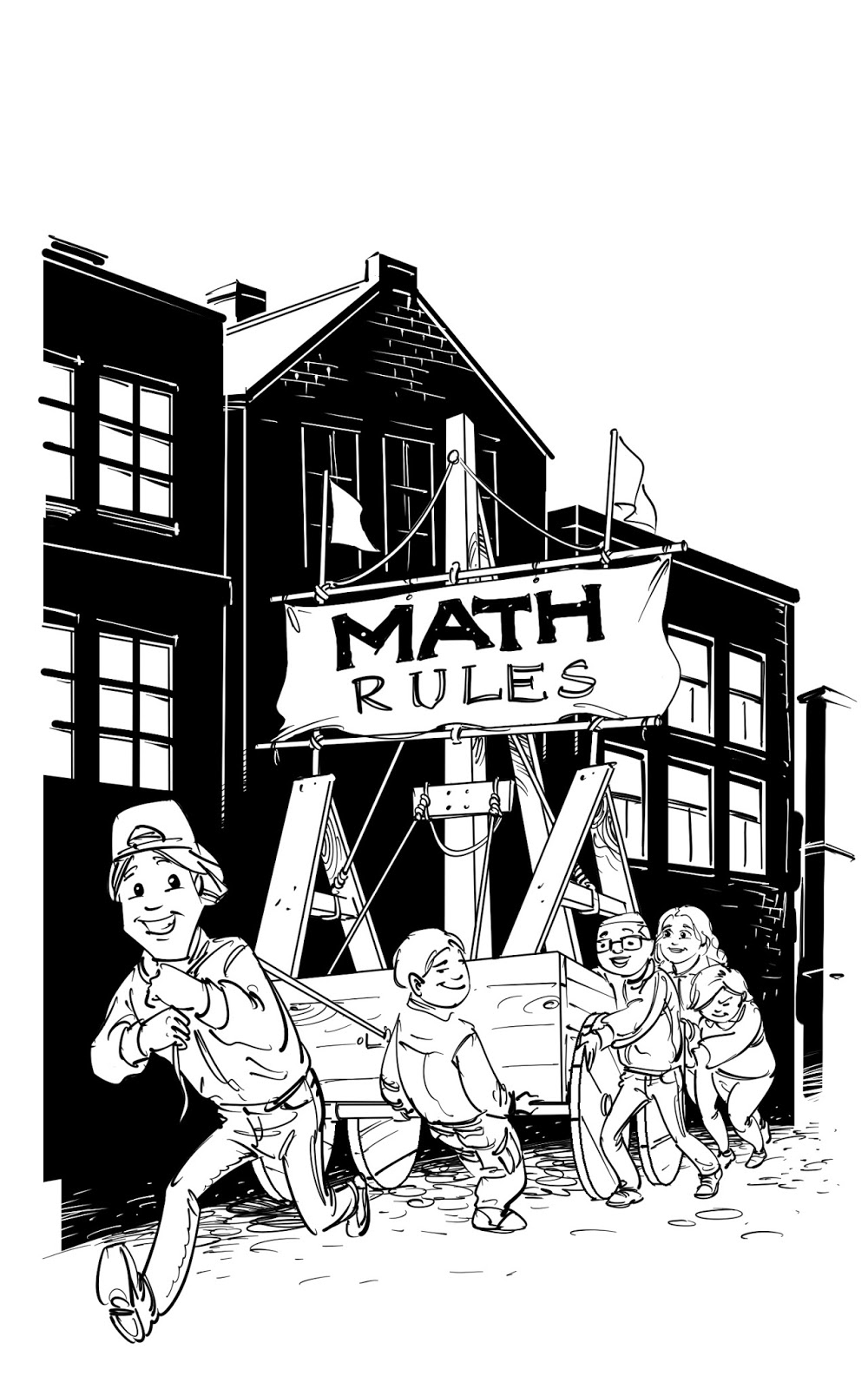 math inspector kids children's book illustration