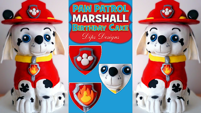 How To Make A Marshall Paw Patrol Pup Birthday Cake   Video Cake Decorating  Tutorial #1