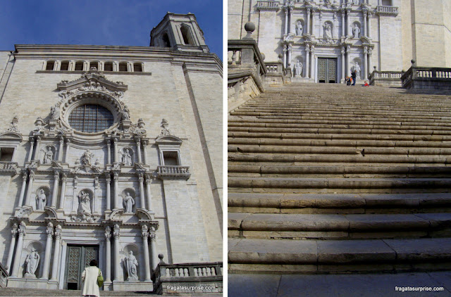 "Catedral de Girona, cenário para o ""Grande Septo de King's Landing"" em Game of Thrones"