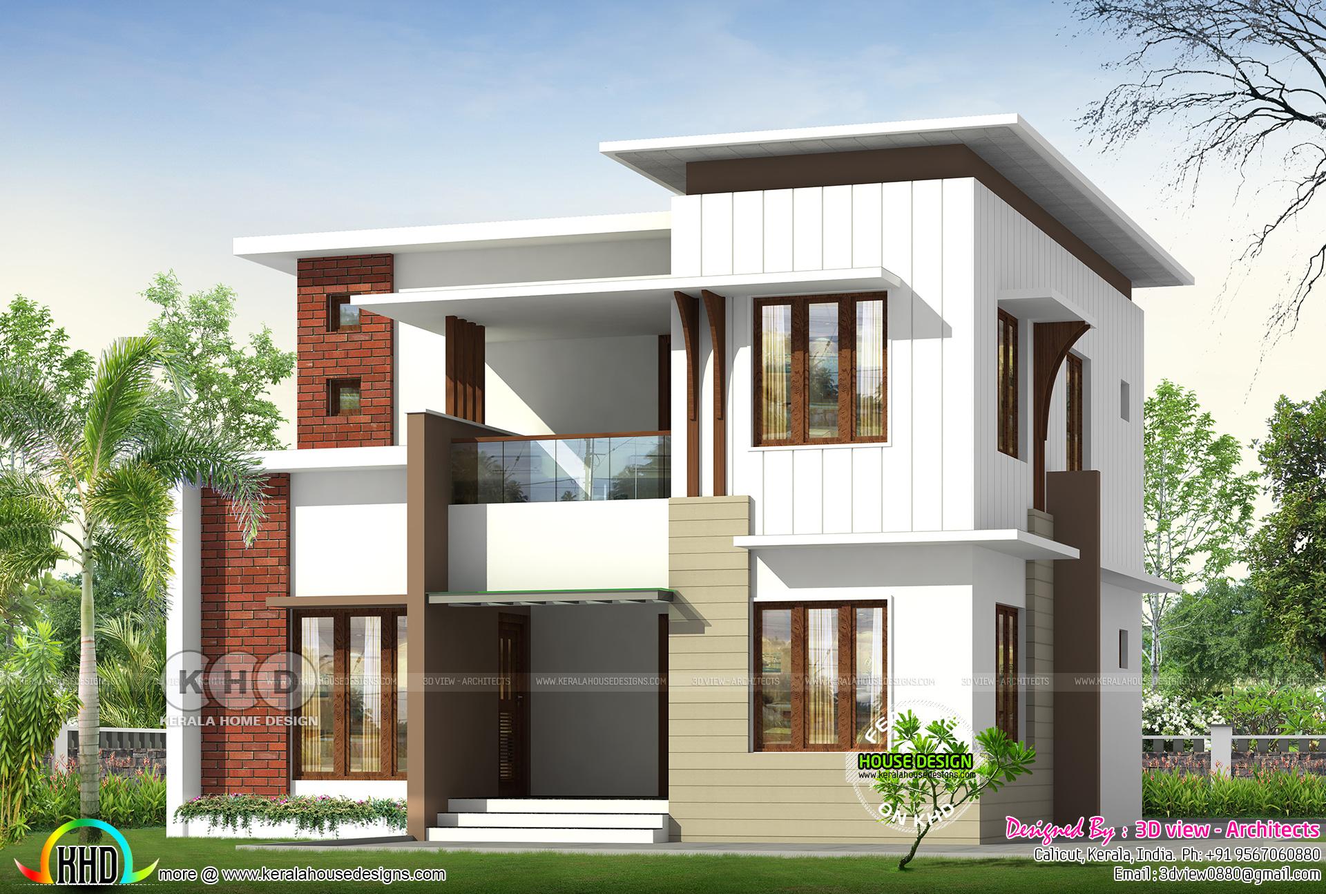 1730 Square Feet 4 Bedroom Flat Roof Home Design Kerala Home Design Bloglovin