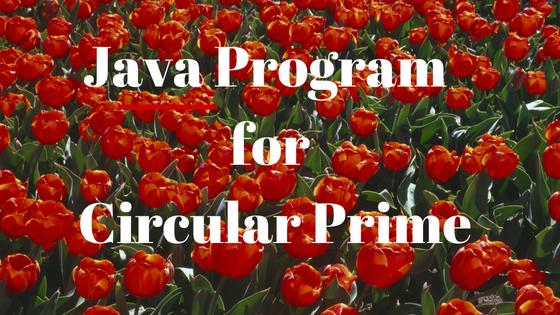circular prime number program in java